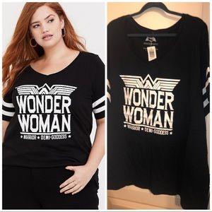 Torrid Wonder Woman Classic Fit Football Tee